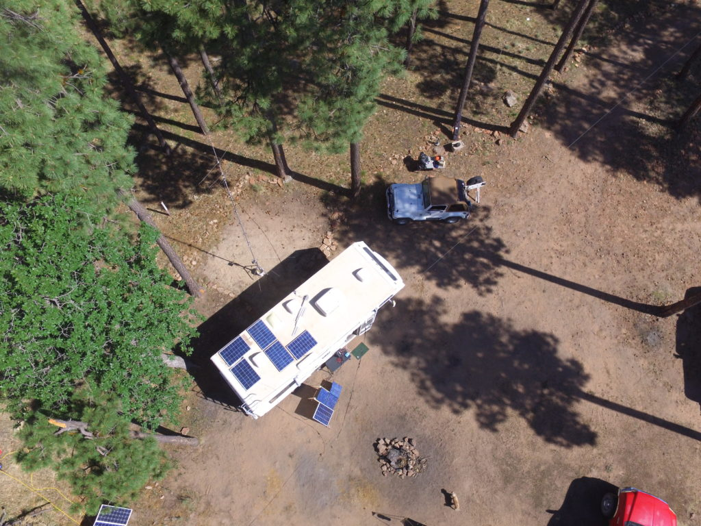 drone image of the RV