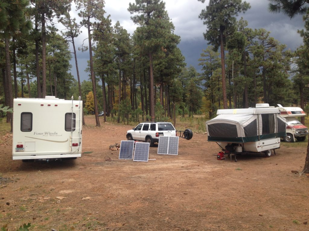 picture of campers in campsite