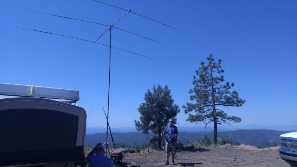 Antenna and view off the rim