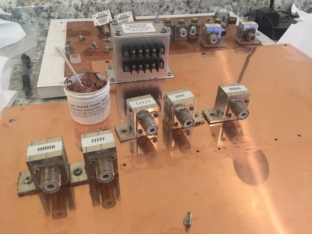 image of arrestors on copper plate
