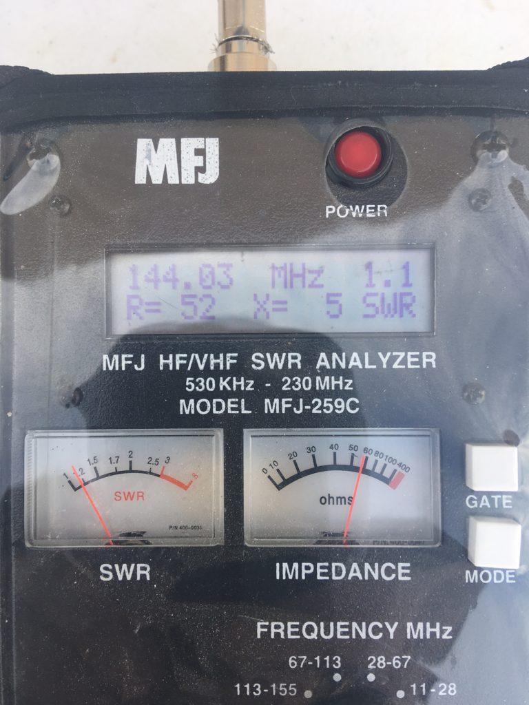 image of SWR measurement