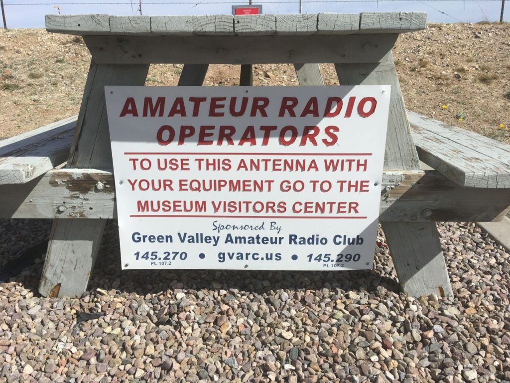 close up of the operating bench sign.
