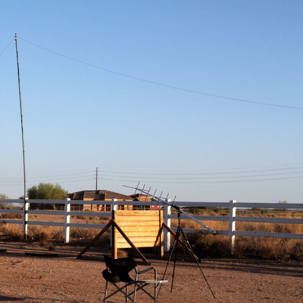 Satellite station position